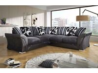 Shannon Black and Silver corner sofa