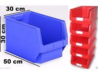EXTRA LARGE Stackable Plastic Storage Parts Picking Lin Bins Boxes Garage Workshop