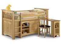 Child's cabin bed-Julian Bowen Barcelona Sleepstation-l ft hand ladder
