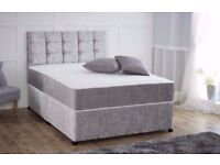 brand new crushed velvet double bed free delivery