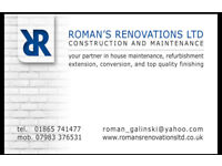 Extensions, Conversions, Renovations And Maintenance