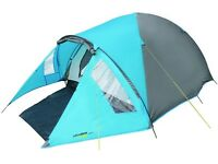 Yellowstone Ascent 2 Man Dome Tent With Porch New Festival Hiking Blue