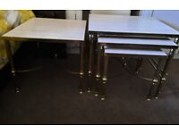 Nest of tables and matching table £20
