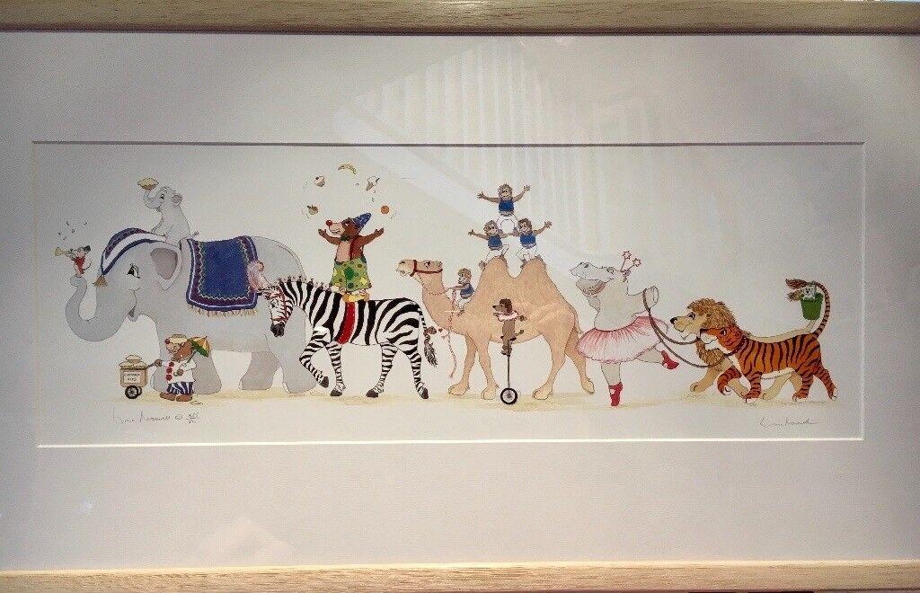 Framed Limited Edition Lorna Maxwell Print: Circus Parade
