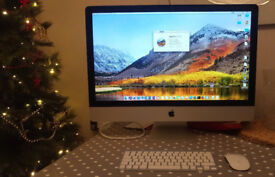 """Immaculate 27"""" Imac Late 2013 core i5, 16GB, dedicated graphic card upgraded with all original boxes"""