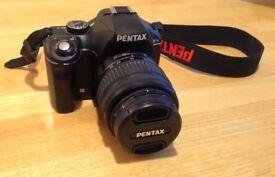 Pentax K-x dslr camera with 18-55mm kit lens