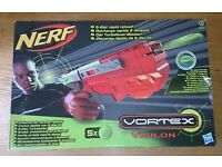 Nerf Vortex Vigilon Blaster Complete With 5 Foam Discs, Full Instructions And Original Box As New