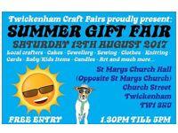 TCF's Handmade Gift Fair - Twickenham - 12th AUGUST 2017