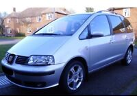 Fantastic for 3+ kids - Top of the range Seat Alhambra 2.0 TDi PD Stylance ('06)