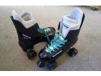 Bauer Supreme Turbo Roller Skates fits 6.5 Blue Laces