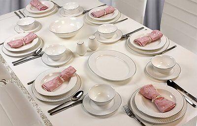 Zellerfeld 56 Teilig Tafelservice Porzellan Teller Set für 12 Personen #2x425