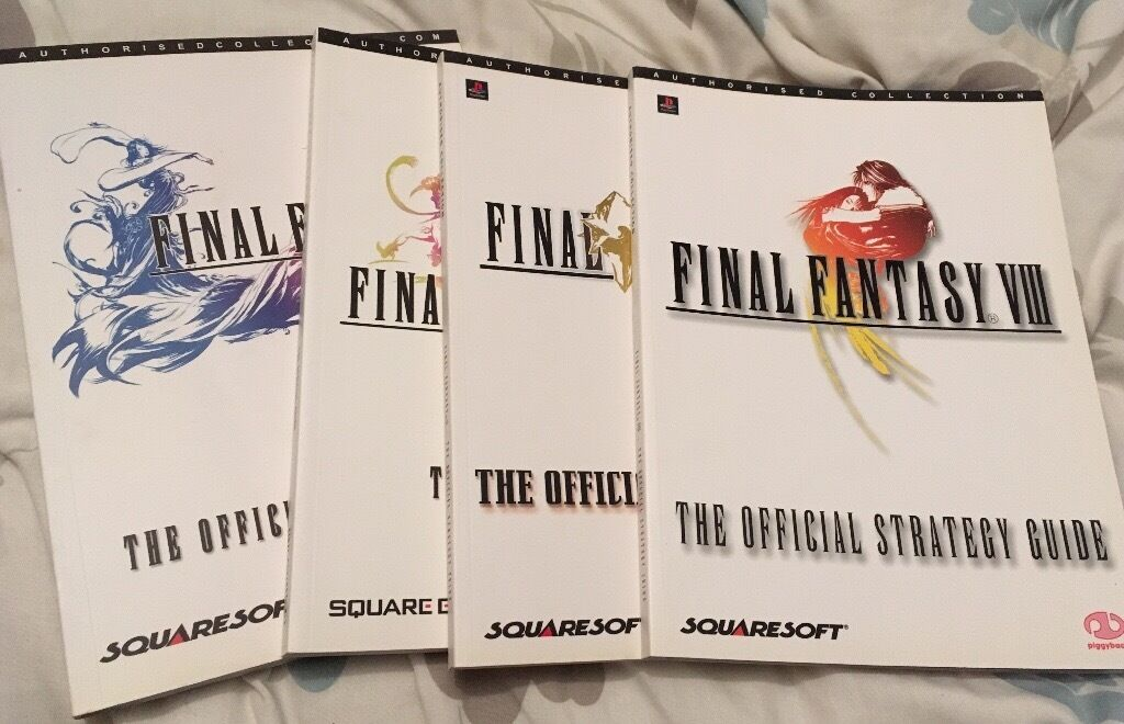 Final fantasy strategy guidesin Basingstoke, HampshireGumtree - Final fantasy x 2 Final fantasy x Final fantasy VIII Final fantasy IX 4 strategy guides for the Final fantasy computer game. Excellent condition. Great collectors item
