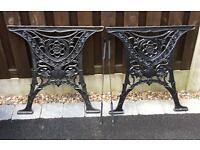 Decorative Wrought Iron Table Legs