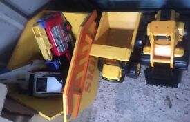 Kids toys, cars and trucks various
