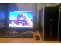"HP Compaq 6005 Pro Desktop PC with 19"" Monitor Full Setup"
