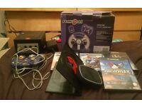 Nintendo gamecube with controller, games, wheel etc FAVERSHAM AREA