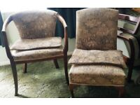 Chairs Vintage 1930's Matching £80.00 (Must Collect BN44 3LP)
