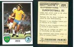 Zico-Brasile-Eurofootball-82-Sport-Supertsars-Edizioni-Panini-VG-n-231