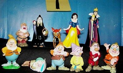 set of disney Snow white and the seven dwarfs  pvc figures/cake toppers