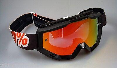 100% Strata MX Brille verspiegelt  Motocross Enduro Downhill Mandarin