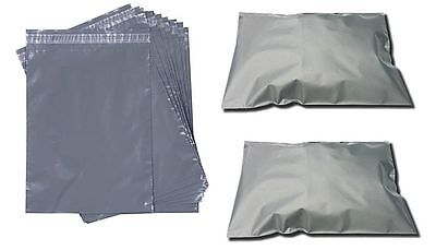 30 Strong Grey Mailing & Packaging Plastic Bags 3 Mixed Size's 6x9 9x12 10x14