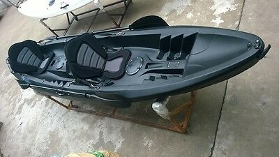 TANDEM 2+1 SIT ON TOP KAYAK CANOE GALAXY CRUZ LIMITED EDITION BLACK or WHITE