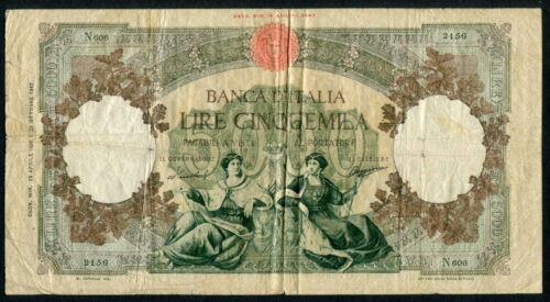 Italy 1947-1963 ( 1956 ), 5000 Lire, P85c, Fine+