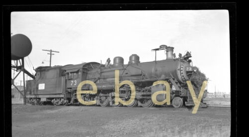 Midland Valley Railroad Steam Locomotive #73 - B&W Negative