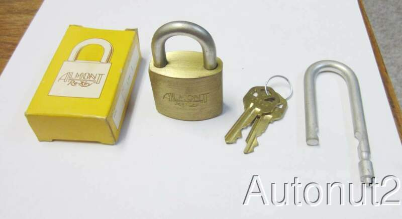 Locksmith  new Almont Re-key padlock with Kwikset keys and extra  part