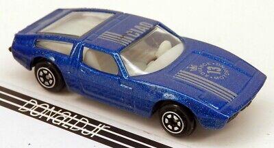 Vintage Yatming #1013 1970s Maserati Bora Blue #13 (Clear Window) 1/64 Scale