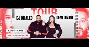 DEMI LOVATO & DJ KHALED CONCERT TICKETS TONIGHT FROM $41 CAD!