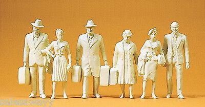 Preiser 45177 Reisende, 6 unbemalte Figuren, für LGB, 1:22,5