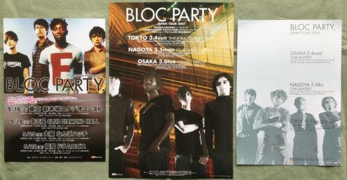 FREE ship! BLOC PARTY Japan PROMO tour flyer x 3 set MINI poster MORE in stock
