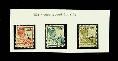 CURACAO QUEEN AIRMAIL S/C 3v MNH STAMPS