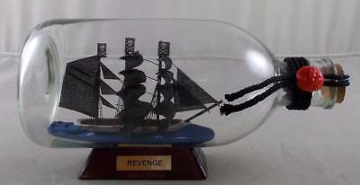 Pirate Ship REVENGE Ship in A Bottle Model Tall Ships Home Decor Boat Gift Gifts