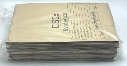 20 CSI Evidence Bags printed paper HxWxD 18x8x5 Inches Crime Scene Investigation