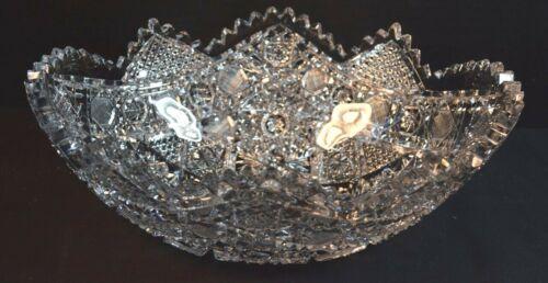 American Brilliant Cut Crystal Oval  Bowl