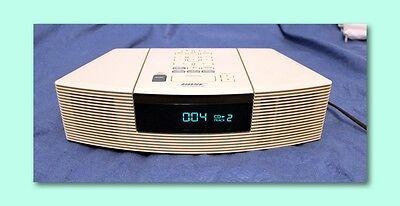 MINT Bose Wave CD Player AM/FM Radio Alarm Clock Platinum White AWRC1P