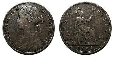 UK 1861 Victoria Penny, Freeman 22 (4+D)