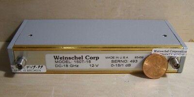 Weinschel Model150t-15. Dc-18ghz. 12v. 0-151db.
