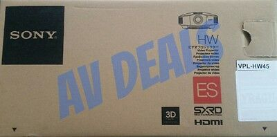 SONY VPL-HW45ES 3D Home Theater / Gaming Projector New In Box (VPLHW45ES)