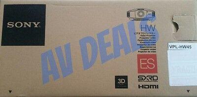 SONY VPL-HW45ES 3D Theater/Gaming Projector New In Box (VPLHW45ES) (VPL HW45ES)
