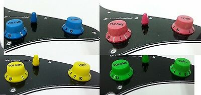 Replacement Knobs For Ibanez w Switch Tip Green Pink Blue Yellow Purple & more