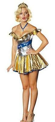 Trophy Wife Halloween Costumes (Women's Perfect Trophy Wife Adult Costume Size)