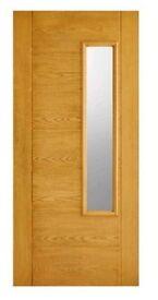 Newbury composite oak glazed front door brand new.
