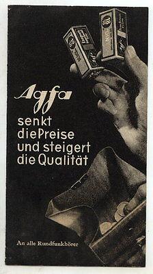 Prospekt: AGFA senkt die Preise & steigert die Qualität