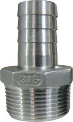 Hose Tail Barb Fitting 34 Barb X 34 Male Npt Stainless Steel 316