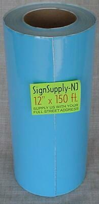 12 X 50 Yd Sky Blue Sign Vinyl For Cutter Plotter Crafts Graphics 150 New