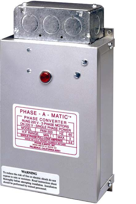 Phase-a-matic Static Phase Converter Horse Power 3-5 Pam-600