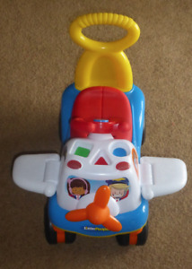Fisher Price Little People Activity Airplane Riding Toy/Walker